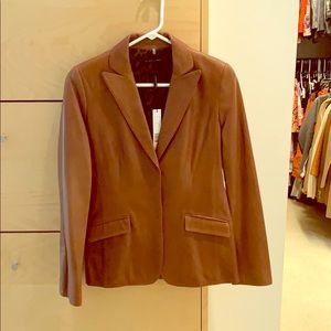 Elie Tahari Leather Jacket, Size 2, new with tags!